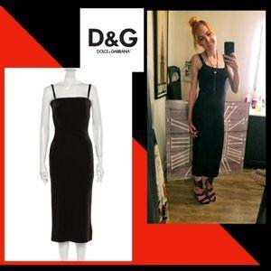 D&G - Sexy Virgin Wool Bodycon Midi Dress  X-Small